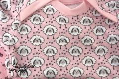 Bio-Jersey Stenzo Schafe Kreuze, rosa