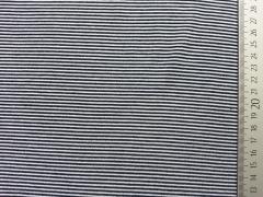 Reststück 91 cm Jersey Mini Streifen 1mm, navy-weiss