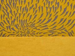 Sweat Alpenfleece grafisches Muster, ocker
