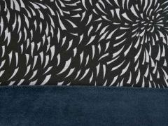 Sweat Alpenfleece grafisches Muster, schwarz