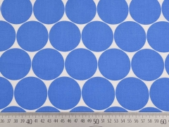 RESTSTÜCK 35 cm BW Fresh Dots 5 cm, himmelblau/weiss