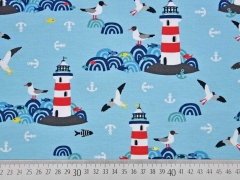 Jersey Lighthouse Island by Lila-Lotta, hellblau