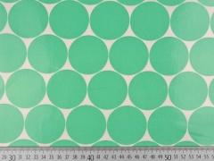 laminierte Baumwolle Punkte 5cm, hellgrün weiß