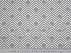 beschichtete BW Quadrate Leona, grau