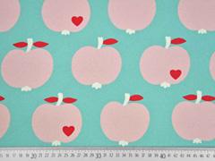 Canvas Stoff Äpfel by Graziela schmutz-und wasserabweisend, mint