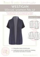 Westigan Weste Cardigan Schnittmuster Lillesol women No.37