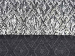 Cocktailstoff Rauten metallic, silber