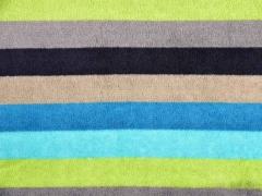 Wellnessfleece Streifen, türkis hellgrün grau