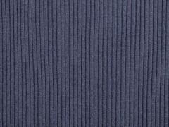 Rippenbündchen Hipster-Beanie Stoff, graublau melange