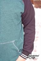 Fertigbündchen Streifen College Stil, weiß schwarz