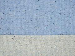 RESTSTÜCK 62 cm French Terry Sweat Konfetti Punkte hellblau