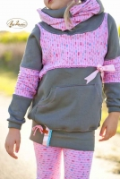 French Terry Sweat Pfeile, rosa