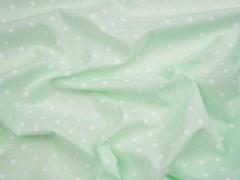 Voile Baumwolle weiße Punkte, hellgrün