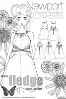 Schnittmuster Sommerkleid Newport Farbenmix