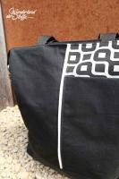 Dry Oilskin Stoff gewachste Baumwolle, schwarz