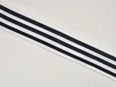 Ripsband schmale Streifen 3 cm, schwarz weiß