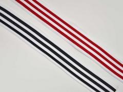 Ripsband schmale Streifen 3 cm, rot weiß