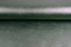 Vintage Lederimitat geprägte Optik, metallic grün