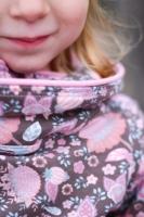 Webband Streifen 25 mm, rosa natur altrosa