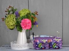 Baumwollstoff Blumen,  lila flieder