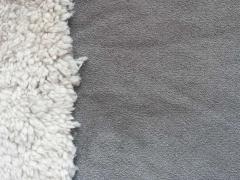 RESTSTÜCK 42 cm Doubleface Wildleder Imitat/Teddyfutter,grau