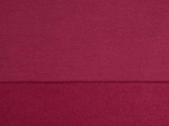 RESTSTÜCK 36 cm Sweatstoff angeraut uni, weinrot