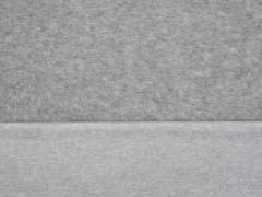 RESTSTÜCK 90 cm weicher Baumwollfleece, hellgrau melange