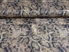 Wildlederimitat Schlangenmuster Snake Print, braun