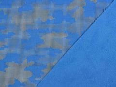 Softshell Stoff Camouflage reflektierend, silbergrau himmelblau