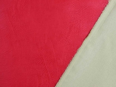 Vintage Lederimitat geprägte Optik, rot