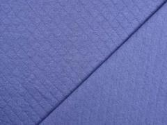 Steppjersey Baumwolle Rauten, dunkles jeansblau