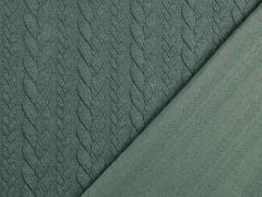 Jacquard Zopfmuster, mattes dunkelgrün