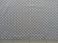 Jersey Sterne 0,7cm-weiß auf hellgrau