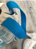 Gurtband Baumwolle 2,5 cm breit, türkis #20