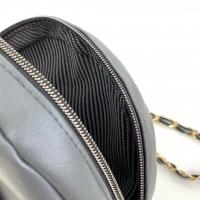 Taschenkette Gold mit Band 1m-Stück, schwarz grau
