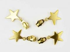 Schieber mit Stern für Reißverschluss mit 6,5 mm Spirale, GOLD