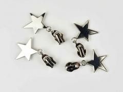 Schieber mit Stern für Reißverschluss mit 6,5 mm Spirale, SILBER