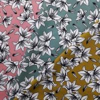 Canvas Stoff Lilien, schwarz weiß altrosa