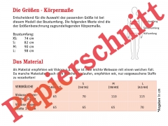 Schnittmuster Top m. Spaghettiträger Frau Eike Studio Schnittreif