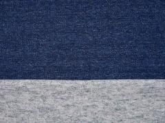 RESTSTÜCK 25 cm Sweat angeraut, indigoblau meliert