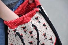 Baumwollstoff kleine Punkte Petite Dots, weiß rot