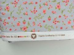 Bio-Baumwollstoff Streublümchen, grau