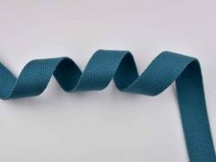 Gurtband 3 cm Baumwolle Polyester, petrol