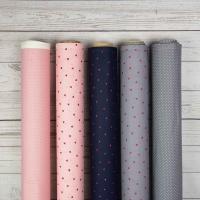 Baumwollstoff kleine Punkte beschichtet Petite Dots,weiß rosa