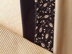 RESTSTÜCK 145 cm Viskose Twill Stoff Paisleymuster, schwarz