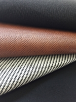 Outdoorstoff Dralon®  Teflon diagonale Linien, creme schwarz