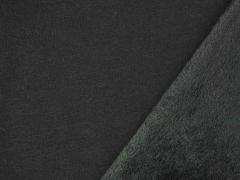 RESTSTÜCK 58 cm Alpenfleece Sweatstoff uni, schwarz