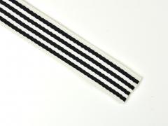 Gurtband Streifen 4 cm, dunkelblau weiß