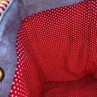 Gurtband Streifen 4 cm, rot weiß