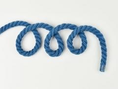 gedrehte Kordel dick 8 mm, jeansblau